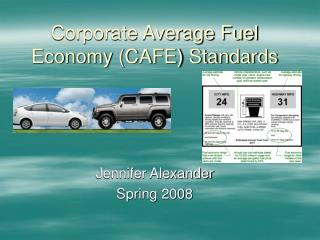 Corporate Average Fuel Economy CAFE Standards