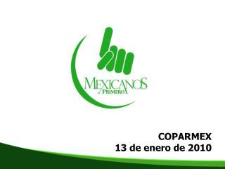 COPARMEX 13 de enero de 2010