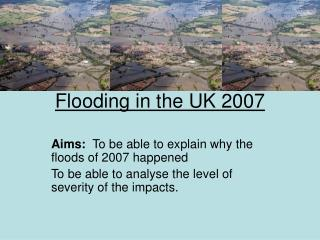 Flooding in the UK 2007