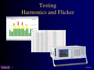 Testing Harmonics and Flicker