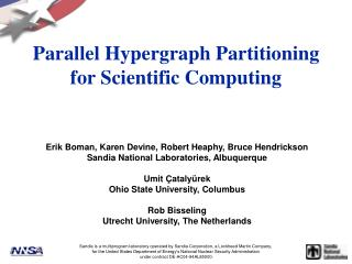 Parallel Hypergraph Partitioning for Scientific Computing