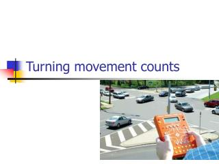 Turning movement counts
