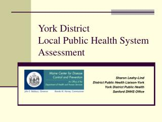 York District Local Public Health System Assessment