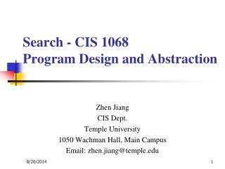 Search - CIS 1068  Program Design and Abstraction