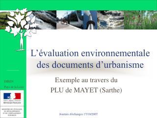 L��valuation environnementale des documents d�urbanisme