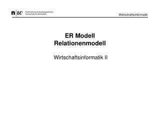 ER Modell Relationenmodell