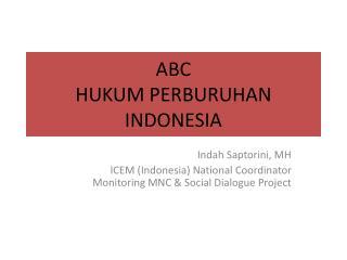 ABC  HUKUM PERBURUHAN  INDONESIA