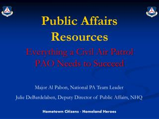 Public Affairs Resources
