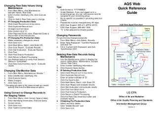 AQS Web Quick Reference Guide