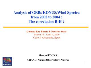 Analysis of GRBs KONUS/Wind Spectra from 2002 to 2004 : The correlation R-H ?