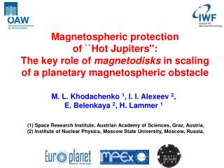 Magnetospheric protection  of ``Hot Jupiters'':  The key role of  magnetodisks  in scaling