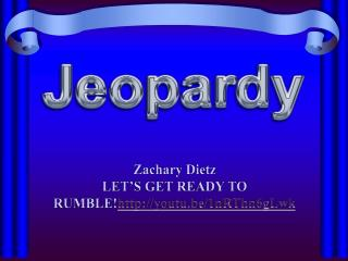 Zachary Dietz LET'S GET READY TO  RUMBLE! http ://youtu.be/1nRThn6gLwk