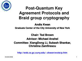 Post-Quantum Key Agreement Protocols and Braid group cryptography