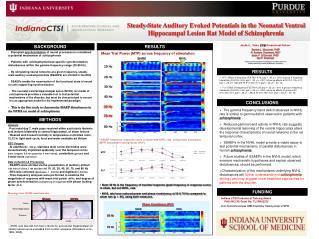 Indiana CTSI Predoctoral Training Award PHS (NCCR) Grant No: TL1RR02575