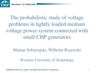 Shortage of tools for assessing the capacity of MV networks to accept distributed generation