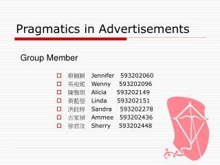 Pragmatics in Advertisements