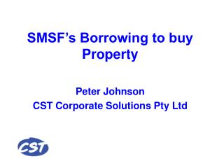 SMSF s Borrowing to buy Property
