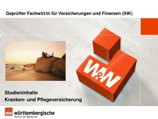 Gepr�fter Fachwirt/in f�r Versicherungen und Finanzen (IHK)