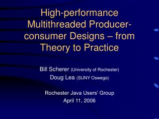 High-performance Multithreaded Producer-consumer Designs – from Theory to Practice