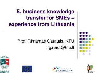 E. business knowledge transfer for SMEs – experience from Lithuania