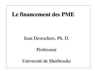 Le financement des PME