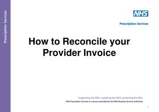 How to Reconcile your Provider Invoice