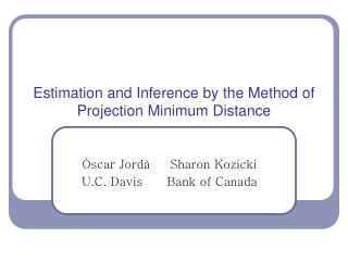 Estimation and Inference by the Method of Projection Minimum Distance