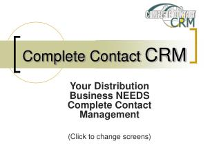 Complete Contact  CRM