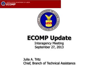ECOMP Update Interagency Meeting September 27, 2013