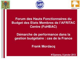 N'Djamena, 8 janvier 2013