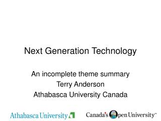 Next Generation Technology