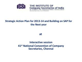 Strategic Action Plan for 2013-14 and Building on SAP for the Next year