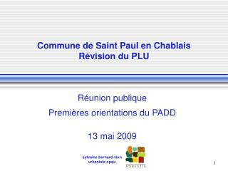 Commune de Saint Paul en Chablais R�vision du PLU