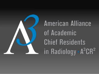 2012 A 3 CR 2  Annual Chief Resident Survey