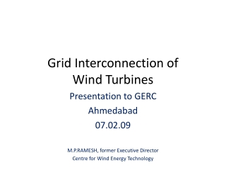 Grid Interconnection Issues for Wind Generation