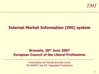 Internal Market Information (IMI) system