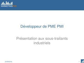 Développeur de PME PMI