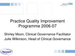 Practice Quality Improvement Programme 2006-07