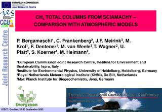CH 4  TOTAL COLUMNS FROM SCIAMACHY �  COMPARISON WITH ATMOSPHERIC MODELS