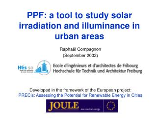 PPF: a tool to study solar irradiation and illuminance in urban areas