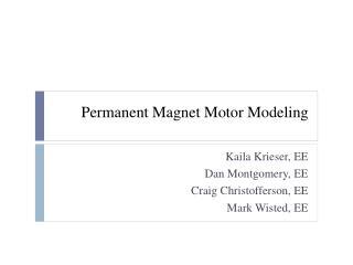 Permanent Magnet Motor Modeling