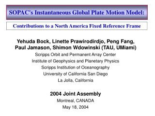 SOPAC's Instantaneous Global Plate Motion Model: