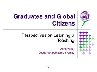 Graduates and Global Citizens