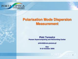 Polarisation Mode Dispersion M easurement
