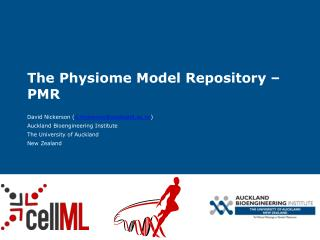 The Physiome Model Repository – PMR