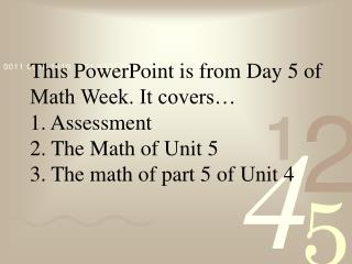 High School Math The Standards Based Way Day 5