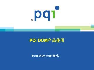PQI  DOM 产品使用