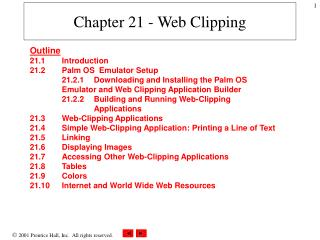 Chapter 21 - Web Clipping