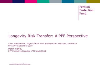 Martin Clarke, PPF Executive Director of Financial Risk