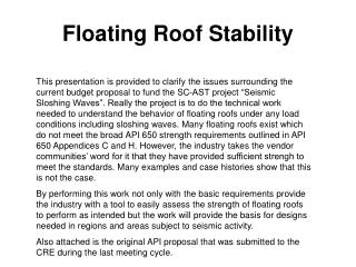 Floating Roof Stability